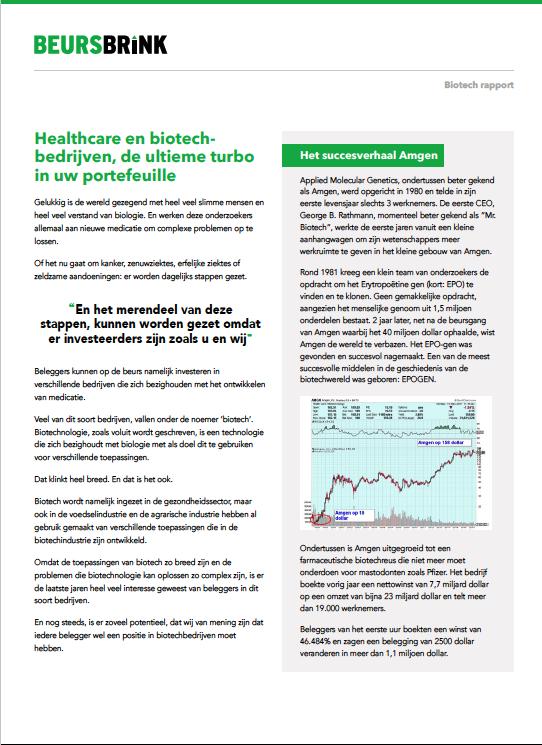 Biotech Rapport Aandelen